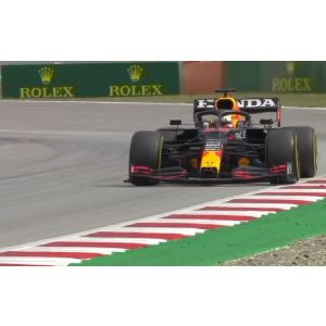 2021 - RED BULL RACING HONDA  RB16B - MAX VERSTAPPEN - 100th GP with Red Bull - 2nd place GP Spain - SPARK 1:18