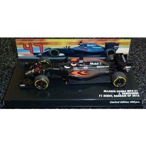 2016 - McLaren Honda MP4-31 - Stoffel Vandoorne - F1 Debut, Bahrain GP